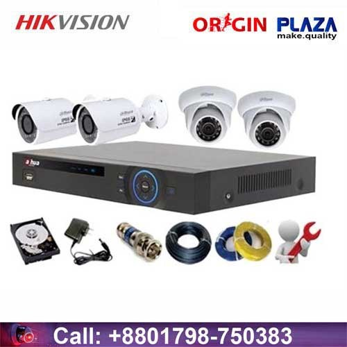 Dahua 1.3 HD 4 Channel Hikvision Camera price in bd