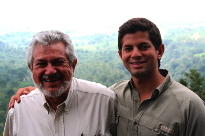 Don Alfonso Robelo and him son Diego