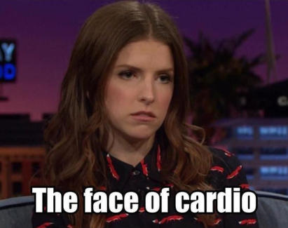 fitness memes: the face of cardio