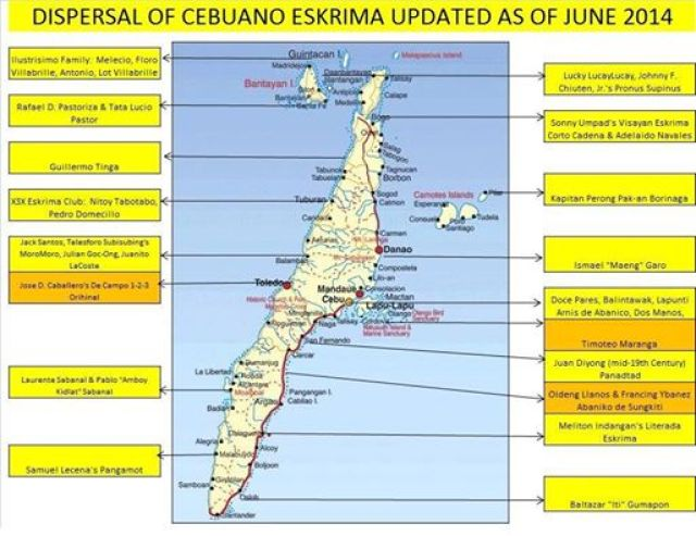 Cebuano Eskrima Map