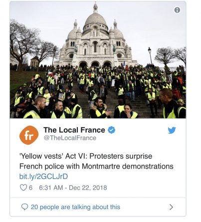 France: Yellow Vests Deploy New Tactics Amid Dwindling Numbers