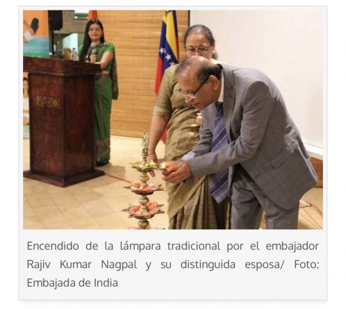 Embassy of India in Venezuela Celebrated Pravasi Bharatiya Divas and World Hindi Day