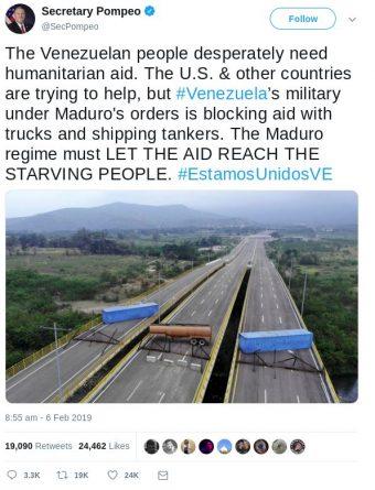 """The Tienditas Bridge """"blockade"""""""