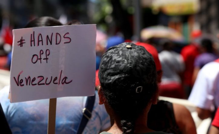 Massive Chavista March in Caracas Today (Images and Videos)
