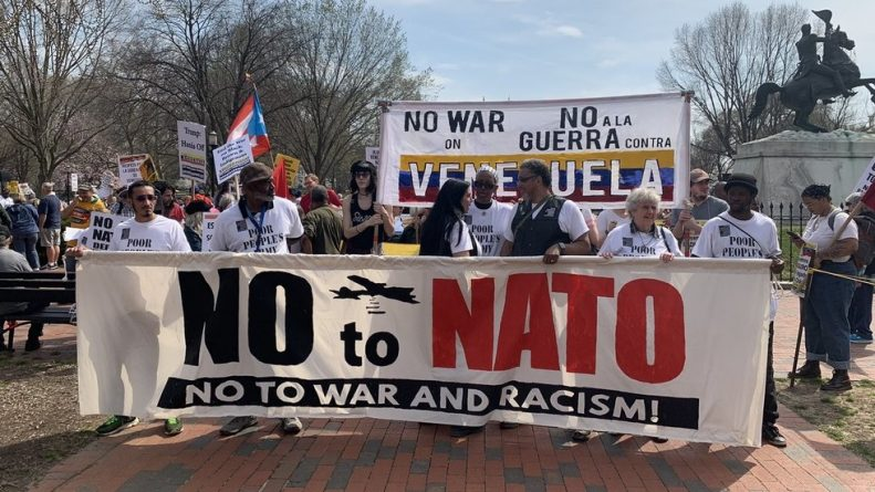 Hundreds March in Washington, DC to Protest Against NATO, US Interference in Venezuela