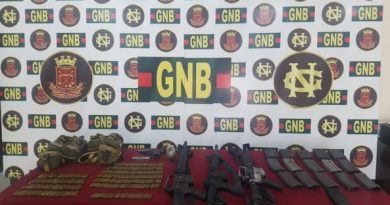 National Guard Seized Weapons Arsenal in Tumeremo, Near Brazil Border