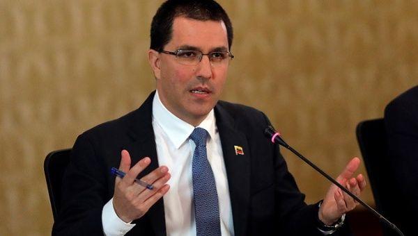 "Venezuela: Arreaza Slams US for ""Criminal"" Blockade"