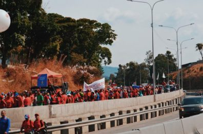 Chavistas Marching to Miraflores in Francisco Fajardo Highway