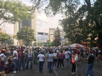 Plaza Altamita haalf the attendance of previous day