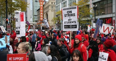 Chicago Teacher, SEIU Strikers Stand Strong