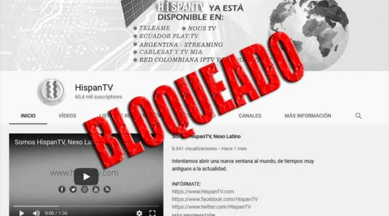 Google Again Blocks  HispanTV and Press TV Access to Youtube