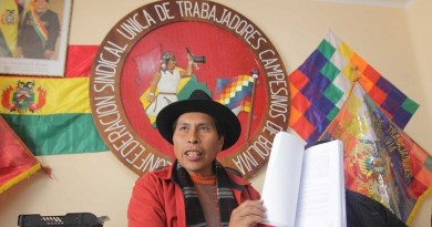 """Bolivia's MAS Leader: """"Our Advantage is Not to be Afraid of Death in Defense of the Country"""""""