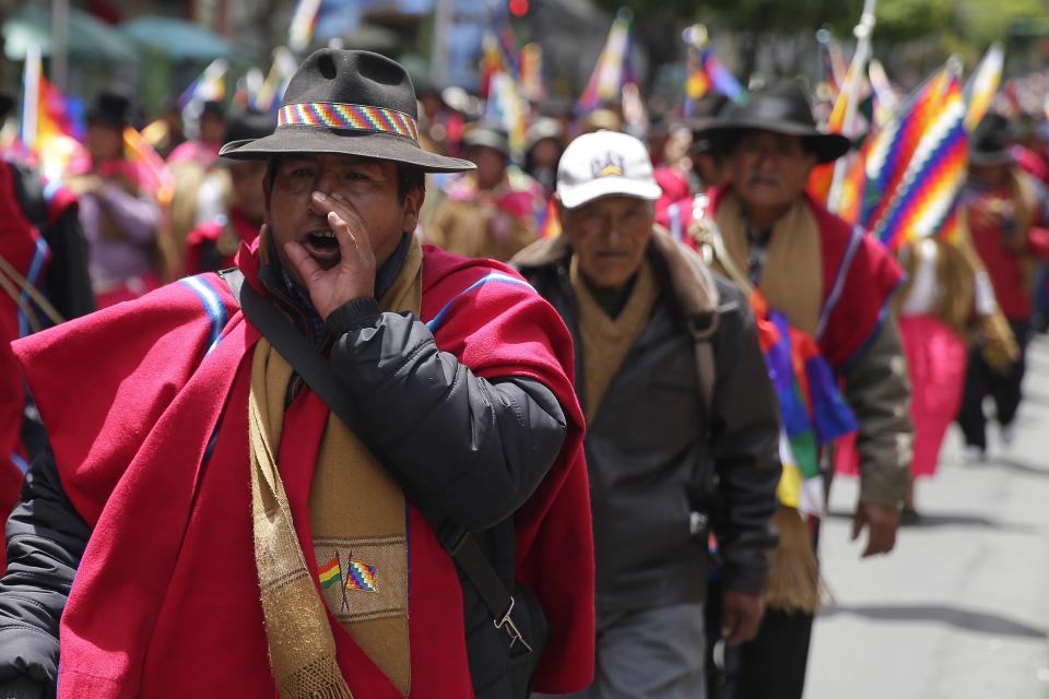 Коренная Боливия готова начать войну с фашизмом.