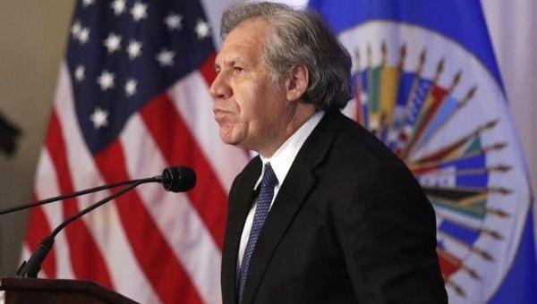 Almagro Believes he Will be Reelected as OAS Secretary General