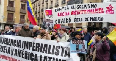 Protest Against Guaido's Visit to Spain