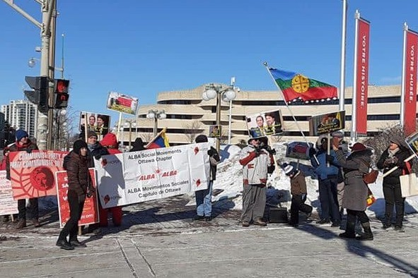 Canadians Protest Lima Group Meeting in Ottawa - An Interview with Pierre LeBlanc