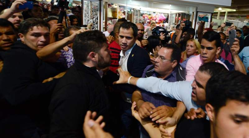 Media Shows Anger and Jeers As Juan Guaido's Hometown Hero Welcome