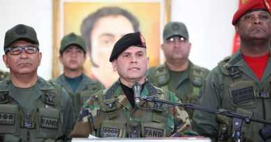 Venezuelan Army Categorically Rejects US Attacks on President Maduro and Other Venezuelan Officials