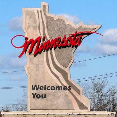 Photo of Minnesota Welcomes You Sign