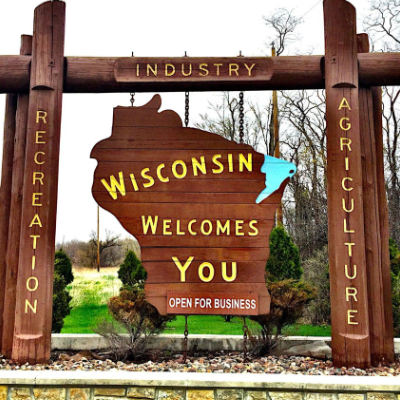 Photo of Wisconsin Welcomes You Sign