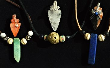 arrowheads and necklaces