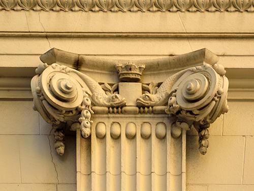 Capitel jônico do Palácio Pedro Ernesto