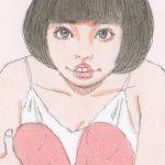 兎の耳の女の子イラスト【ピンク】