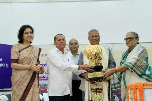 Image result for Prof Muhammad Yunus Conferred KISS Humanitarian Award 2018