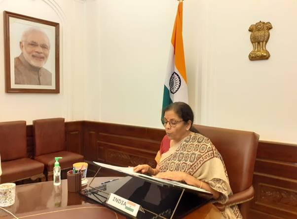 Finance Minister Smt. Nirmala Sitharaman attends the Development ...