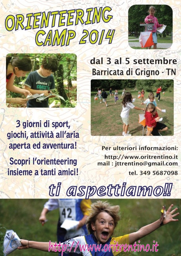 volantino orienteering camp 2014 - 1