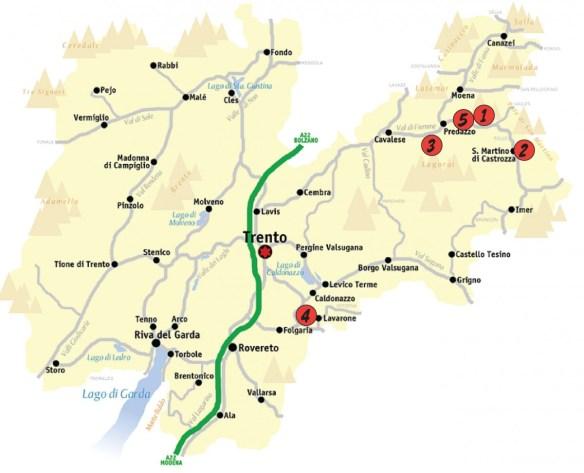 mappa dolomititour2015