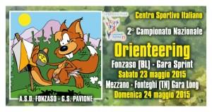 Logo Camp. Naz. Orienteering CSI 2015