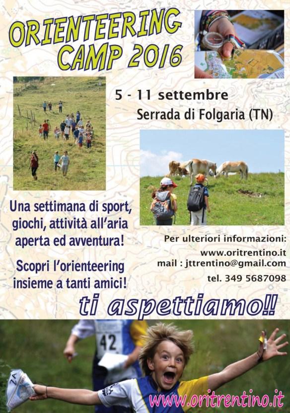 volantino orienteering camp 2016