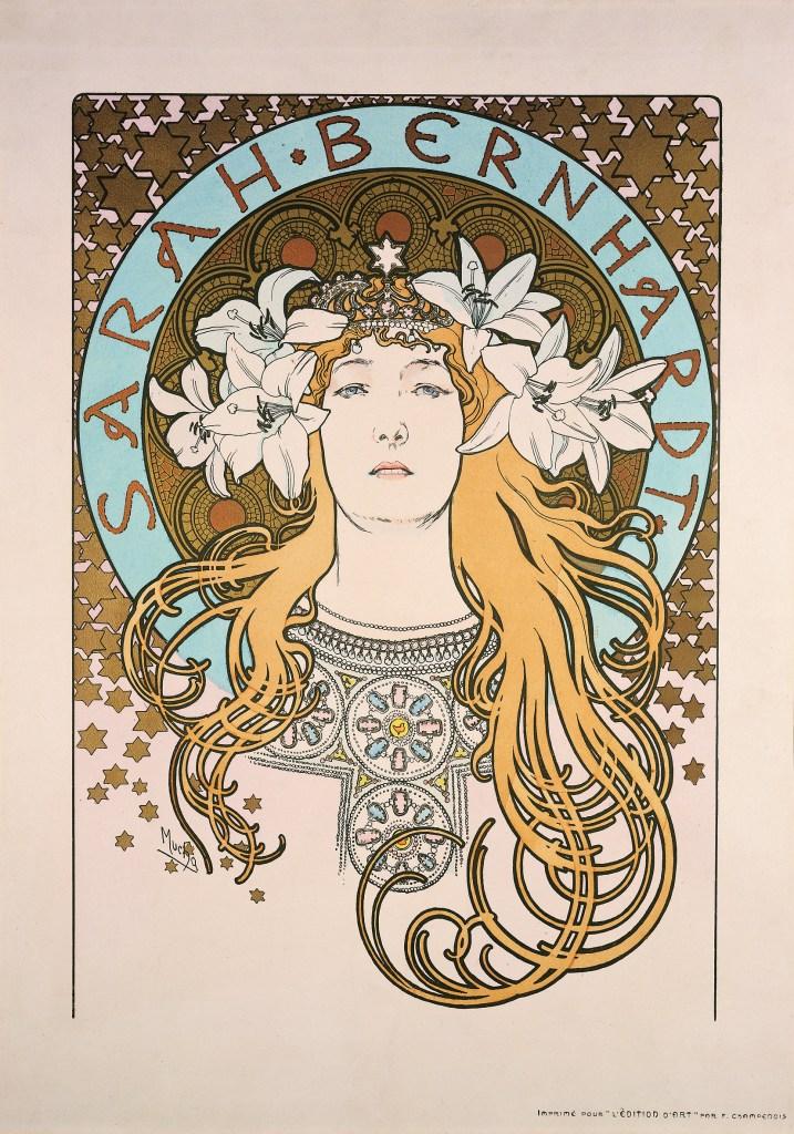 Alphonse Mucha Sarah Bernhardt, 1897