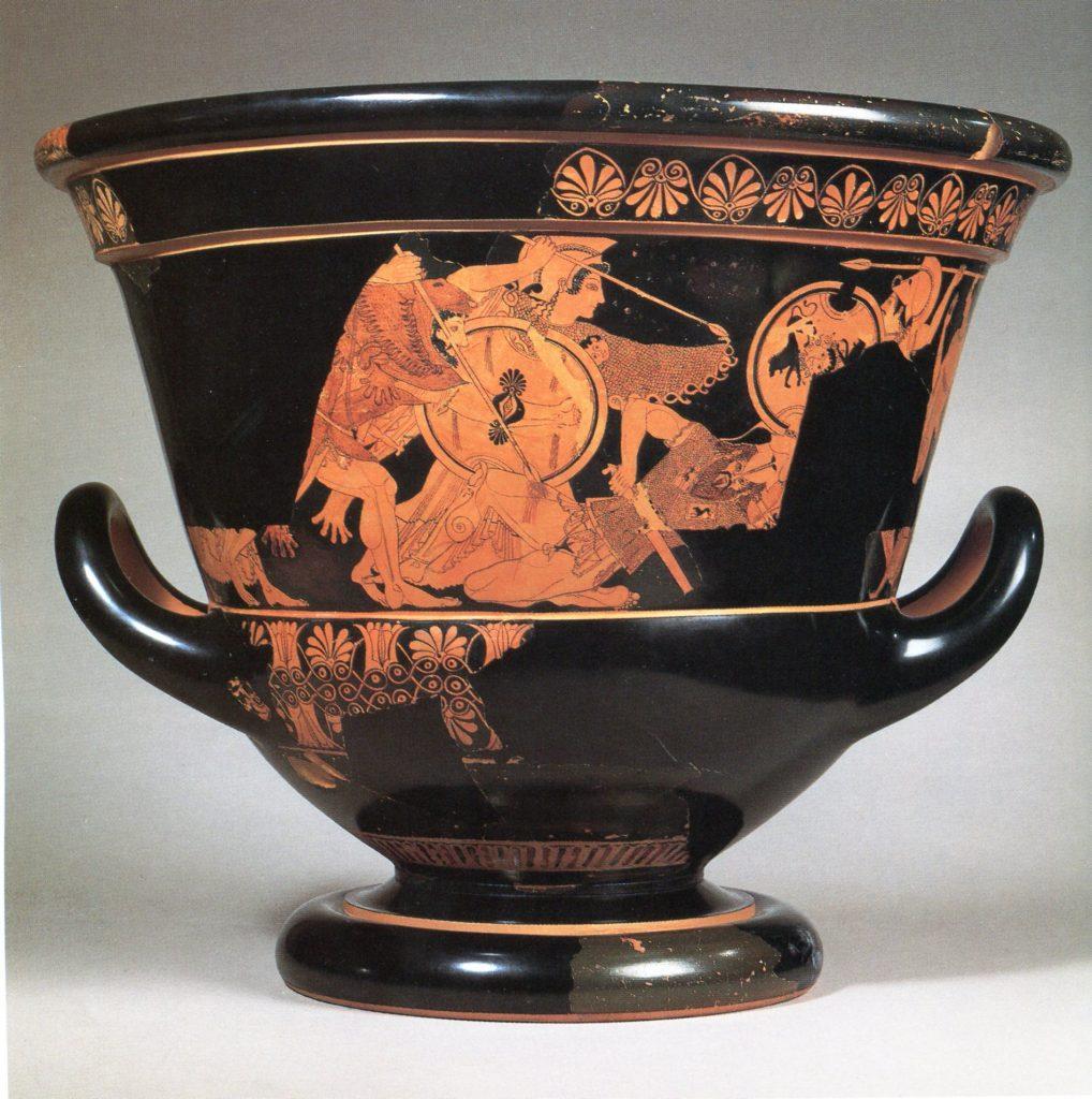 Cretere Euphronio, colori Etruschi Montemartini