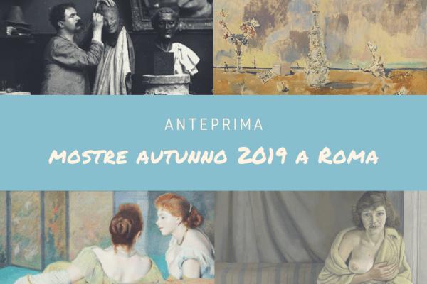 mostre autunno 2019 a Roma