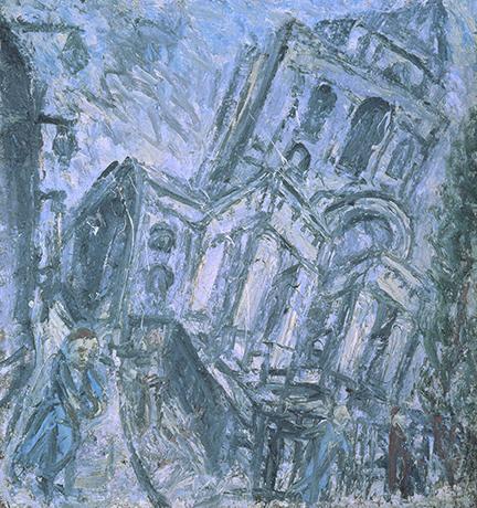 Leon Kossoff, Christ Church, Bacon Freud Chiostro del Bramante