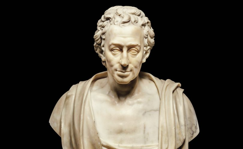 Friedrich Wilhelm Doell, Busto di Winckelmann, 1781, Roma, Musei Capitolini, Studi Settecento Romano omaggio Winckelmann