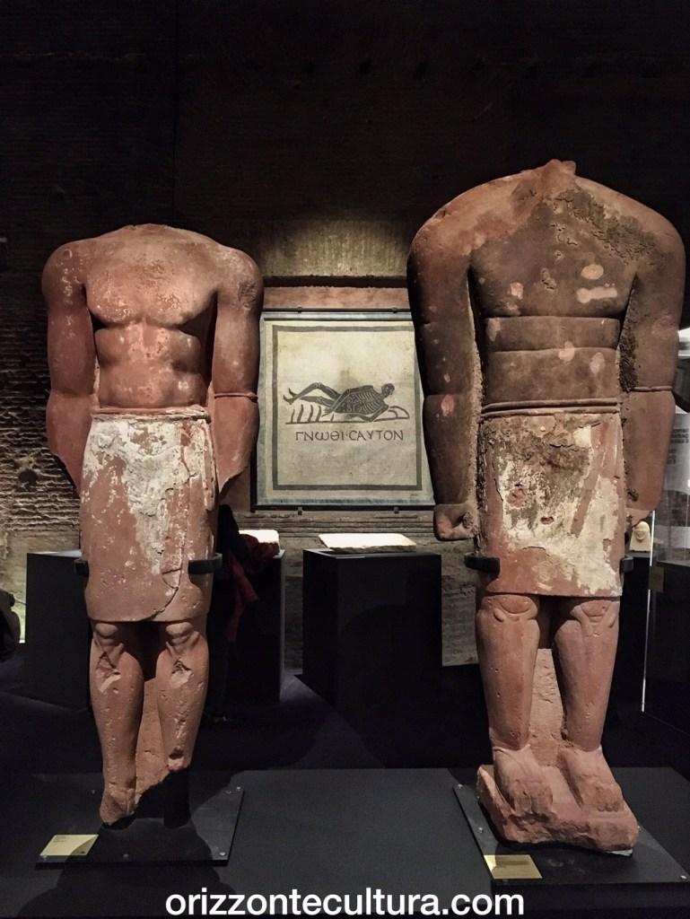 statue dalla mostra alle Terme di Diocleziano Roads of Arabia