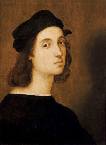 Raffaello Sanzio, Autoritratto, Firenze, Galleria degli Uffizi, Visitare Urbino breve guida itinerario 1 giorno
