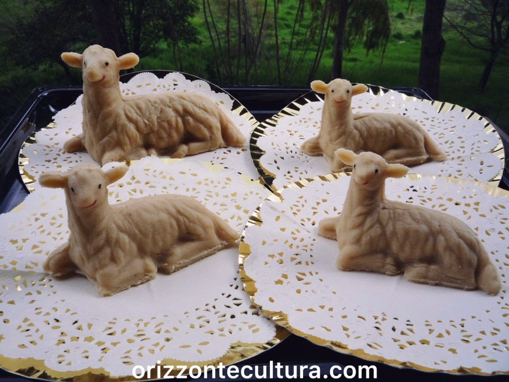 Agnellini di pasta di mandorle, dolci Pasqua tradizioni ricette Italia