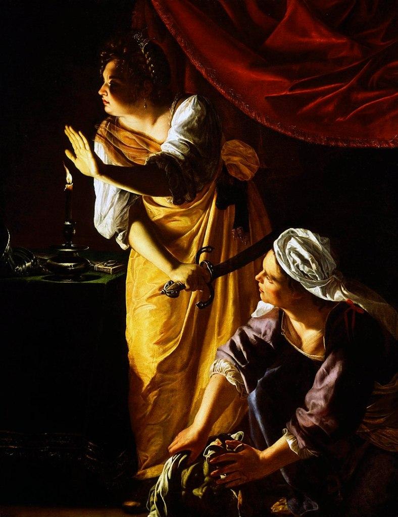 Artemisia Gentileschi, Giuditta con la sua ancella, la donna nell'arte