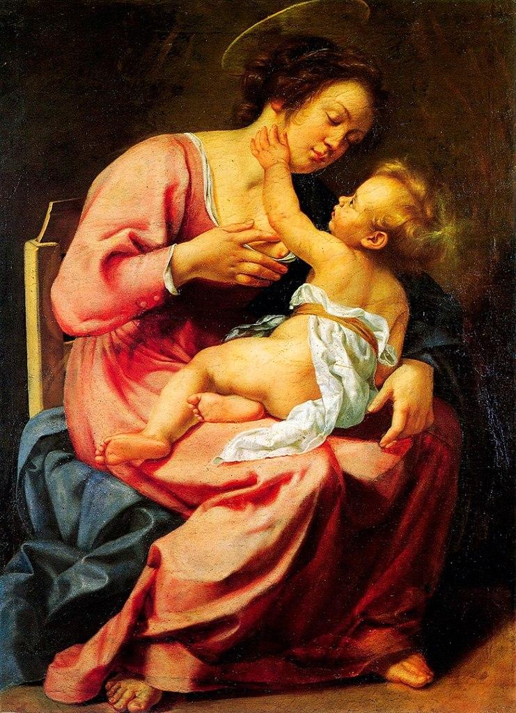 Artemisia Gentileschi, Madonna con il Bambino, donna nell'arte