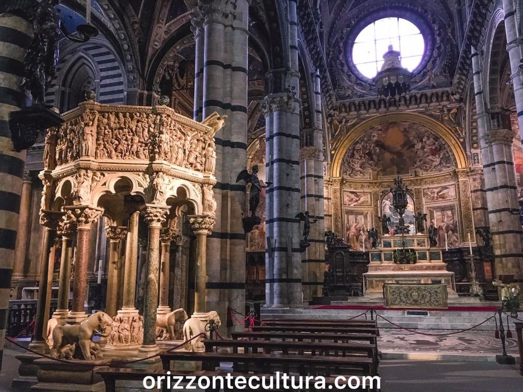 Pulpito di Nicola Pisano, Duomo di Siena