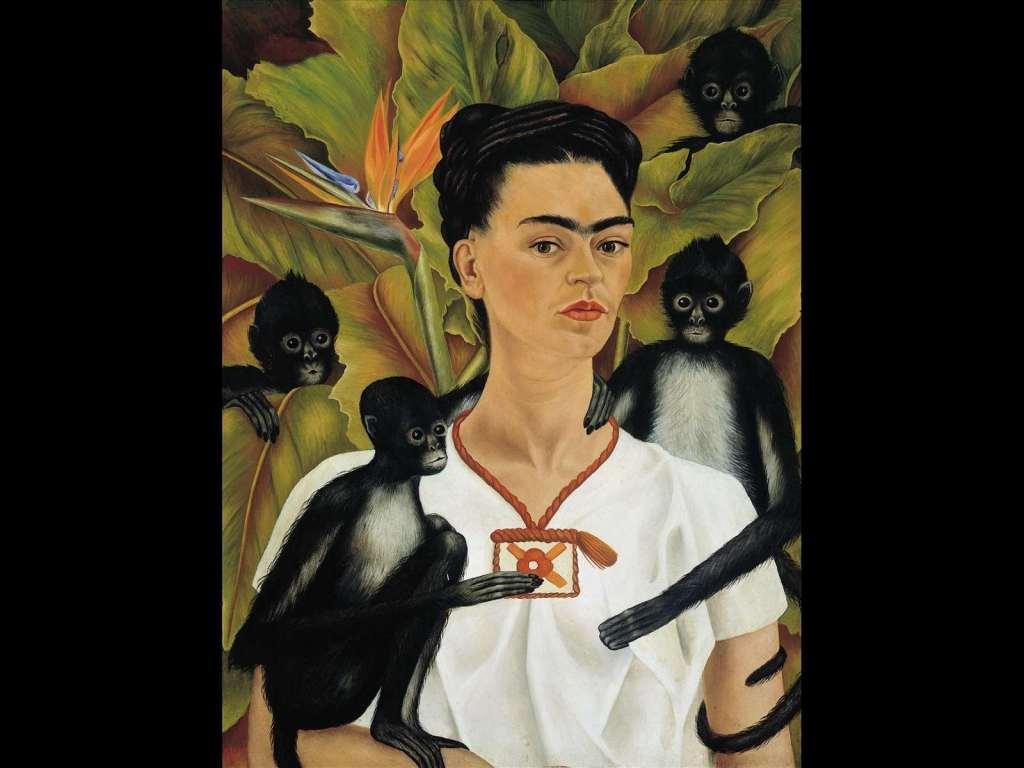Frida Kahlo, Autoritratto con scimmie, la donna nell'arte