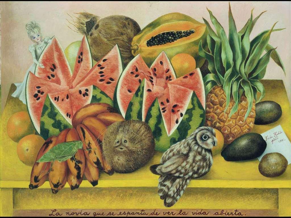 Frida Kahlo, La sposa che si spaventa vedendo la vita aperta, Frida Kahlo la donna nell'arte