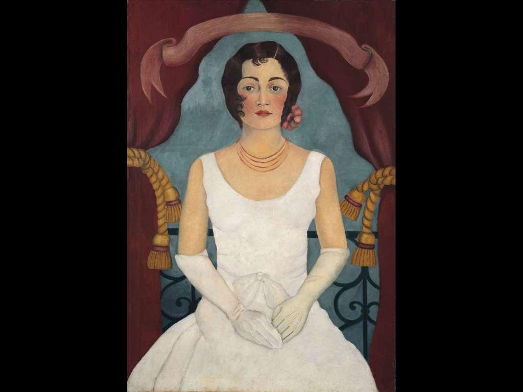 Frida Kahlo, Ritratto di signora in bianco, la donna nell'arte