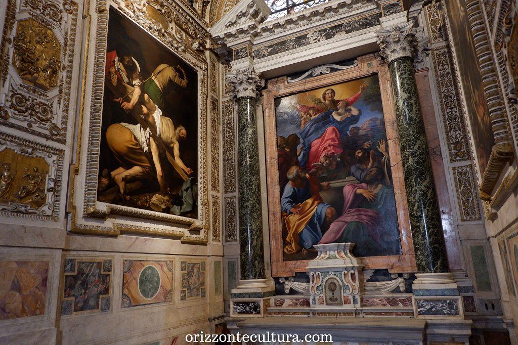 Caravaggio, Crocifissione di San Pietro, Basilica di Santa Maria del Popolo Roma, dove vedere opere Caravaggio gratis
