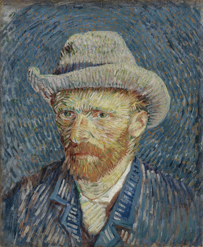 Vincent van Gogh, Autoritratto con cappello di feltro grigio, Vincent Van Gogh mostra Padova