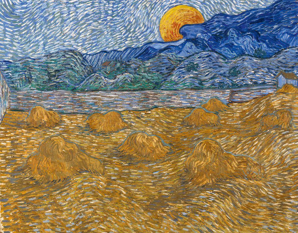 Vincent van Gogh, Paesaggio con covoni e luna che sorge, Vincent Van Gogh mostra Padova